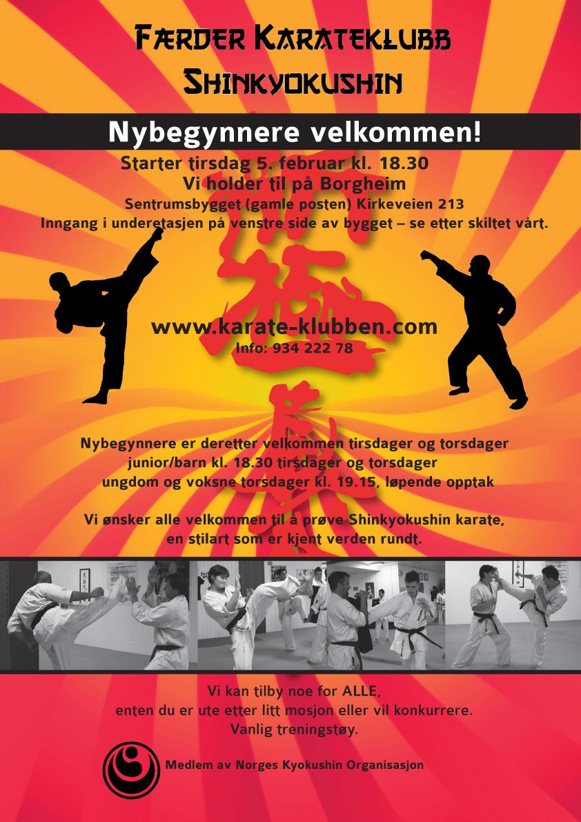 Færder karate plakat